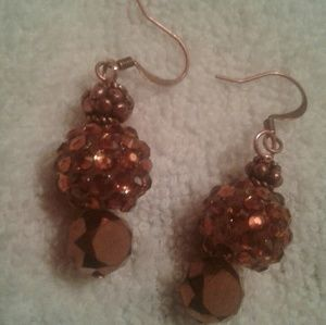 Jesse James beads and crystal earrings